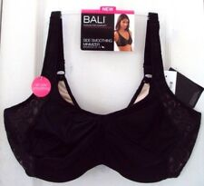 NEW TAG! BALI 44G BLACK & BEIGE SIDE SMOOTHING MINIMIZER UNDERWIRE BRA #DF1004