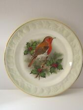 Robin & Holly Christmas Plate Palissy Royale Collection Royal Worcester Festive