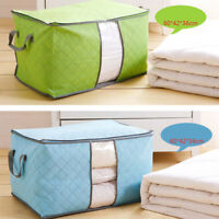 Large Foldable Non-woven Clothes Quilt Blanket Zipper Storage Bag Organizer