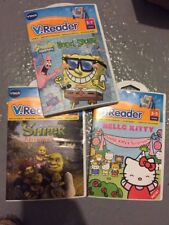 3 Vtech V.Readers Interactive E-Reading System Shrek Hello Kitty SpongeBob Lot