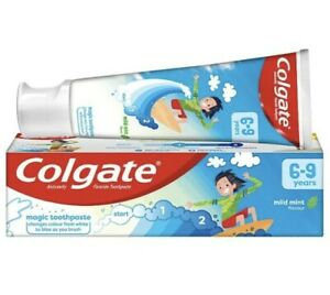 2 X Colgate Kids Toothpaste 6-9 Years Cavity Protection Mild Mint Flavour 50ml
