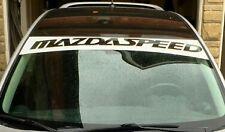 Mazdaspeed Front Windshield Decal Sun Visor Strip Banner Car Sticker Graphic