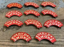 Lot Of 11 Vintage Every Day Smoke Tobacco Tags Tabs Advertising