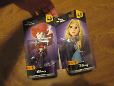Disney Infinity 3.0 ALICE IN WONDERLAND & MAD HATTER SET LOT 2 FIGURES