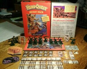 HeroQuest Board Game Kellar's Keep Expansion Quest Pack Near Complete