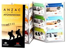 2016 Anzac to Afghanistan 14 Carded Coins and Folder One Complete Set.