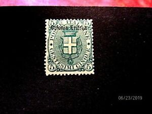Eritrea #3 overprint, mint f-vf og h, cat 160.-
