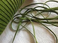biais vintage ruban plat cordon fin vert  lacet corsage 10 mètre