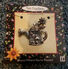 Mary Engelbreit Pin Brooch Watering Can Stirling Silver New