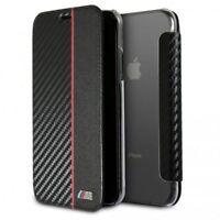 BMW Carbono Estuche Funda para Apple Iphone X / XS 5.8 Cubierta Protectora Negra