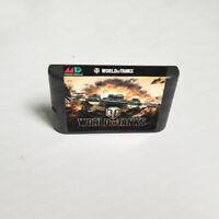 World Of Tanks - 16 bit Game Card For Sega Genesis / Mega Drive System