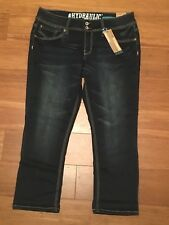 15/16 HYDRAULIC Jeans Lowrise Denim Capri Pants Destroyed Distressed Juniors NWT