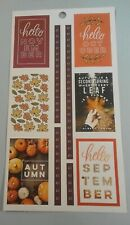 Happy Planner Fall Autumn Boxes and Borders Leaves stickers MAMBI 259776