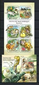 Mozambique 2011 Sc#2342,#2372  Animals of Mozambique-Rodents  MNH MS/SS Set $30