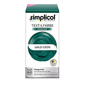Simplicol Textile Intensive All IN 1 Forest Green Color Incl. 400g Fixierpulver