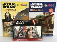 2 Star Wars Mandalorian Baby Yoda Coloring Activity Books + Crayons The Child