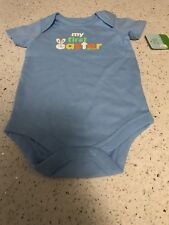 HAPPY 1st  EASTER Adorable One Piece Creeper Infant Boy's Size 0-3 Months NWT