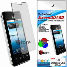 3 PCS FILM SAVE SCREEN FOR LG E720 OPTIMUS CHIC