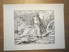 Alfred Rethel - Gleichnis vom Fuchs und Vogel / Kunstdruck