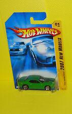 2007 Hot Wheels New Model #001 Dodge Challanger Concept - Green Variant