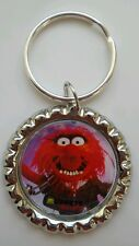 """MUPPETS MOST WANTED """" Animal """" Bottle Cap Keyring"""
