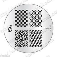 m93 -  IMAGE PLATE Konad Stamping Nail Art Design Nail Template  USA SELLER