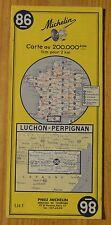 Carte Michelin 1-200 000e n°86 Luchon-Perpignan, 1966