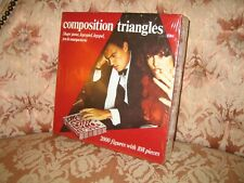 Vintage Very Rare Composition Triangular/Triangles Strategy Board Game - SEALED