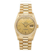 Rolex Day-Date Auto 36mm Yellow Gold Mens President Bracelet Watch 18238