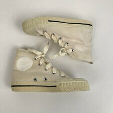 1970s Canvas Basketball Shoes / 70s NOS White Hi Top All Star / Boys Toddler 12