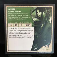D&D Castle Ravenloft Game Replacement Allisa Human Ranger DnD Hero Card Piece