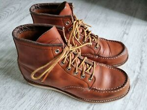 Red Wing 875 Moc Toe fine mens Classic Brown Leather boots,very good sz. 6.5/40