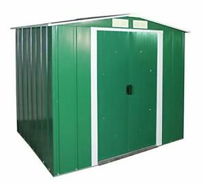 ECO 6' x 6' Hot-Dipped Galvanized Metal Garden Shed - Green with