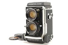 """""Near MINT"""" MAMIYA C220 Pro 6x6 TLR Sekor 80mm f/2.8 Blue Dot Lens from JAPAN"