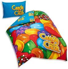 Candy Crush Saga Reversible Single Quilt Cover + Pillowcase Set