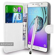 BIANCO Portafoglio Custodia PU Pelle Book Cover per Samsung Galaxy a3 a310 2016 mobile
