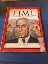 MAGAZINE TIME    IRANS MOHAMMED MOSSADEO MAN OF THE YEAR    JANUARY 7 1952