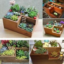 Wooden Garden Flower Herb Planter Succulent Pot Trough Box Plant Bed Case Decor