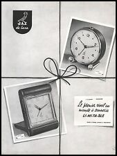 Publicité reveil  JAZ Clock  photo vintage  ad  1954 - 9i
