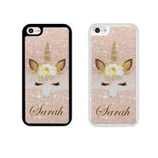 Personalised Rose Gold Glitter Unicorn Phone Case