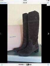 $460 Miu Miu by Prada new authentic Suede boots size EU 38 US8