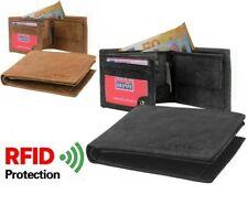 Portefeuille Homme RFID en véritable Cuir Robuste Couleurs au choix