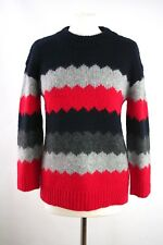 Marc by Marc Jacobs Navy Nikolai Zig Zag Wool Blend Jumper Size S RRP £248