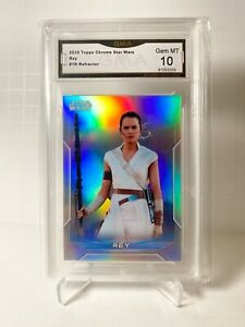 2020 Star Wars Chrome Perspectives Base Refractor #1-R Rey