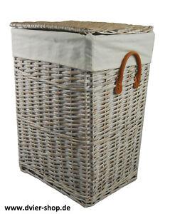 Wäschekorb Wäschetruhe Weide wasch weiß 01WwRt-b 40x30 H.55cm