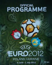 Turnier Programm Ukraine UEFA Euro 2012 Polen-Ukraine (englisch)