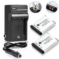 2Pcs EN-EL19 Battery & Charger for Nikon S33 S7000 S6900 S3700 S3500 S4300 S5300