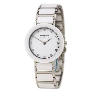 Bering Women's Watch Ceramic Two Tone Silver Tone and White Bracelet 11429-754