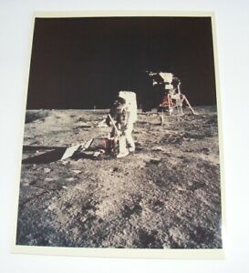 Apollo 11 Mission Kodak Photograph Aldrin Deploys EASEP July 20 1969 11 x 14