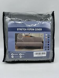 H.VERSAILTEX Gray Futon Cover Stretch  Slipcover Protector Form Fit Cover